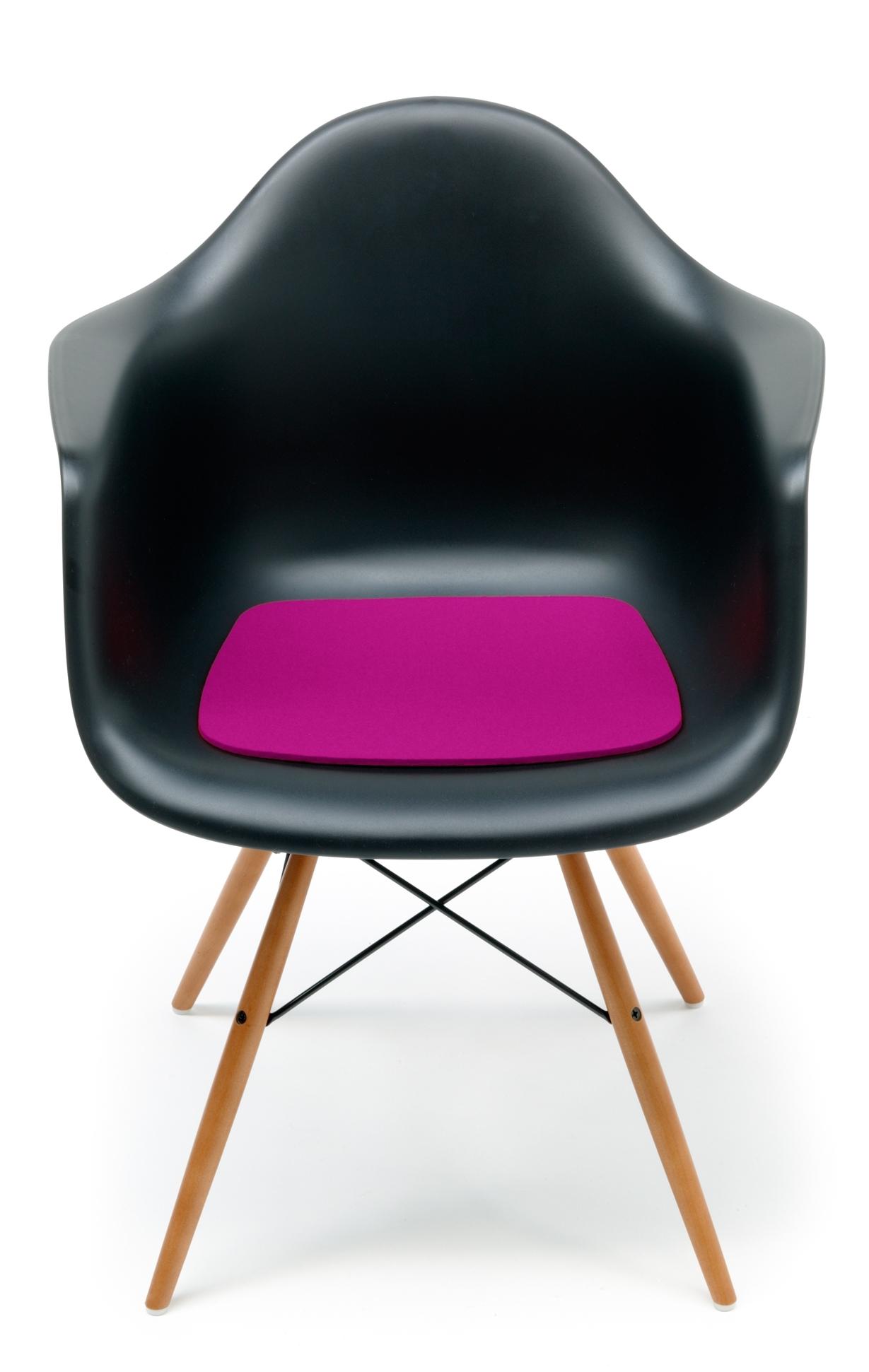 Sitzauflage-Filzauflage Eames Plastic Arm Chairs DAR / RAR / DAW  Pink Hey Sign