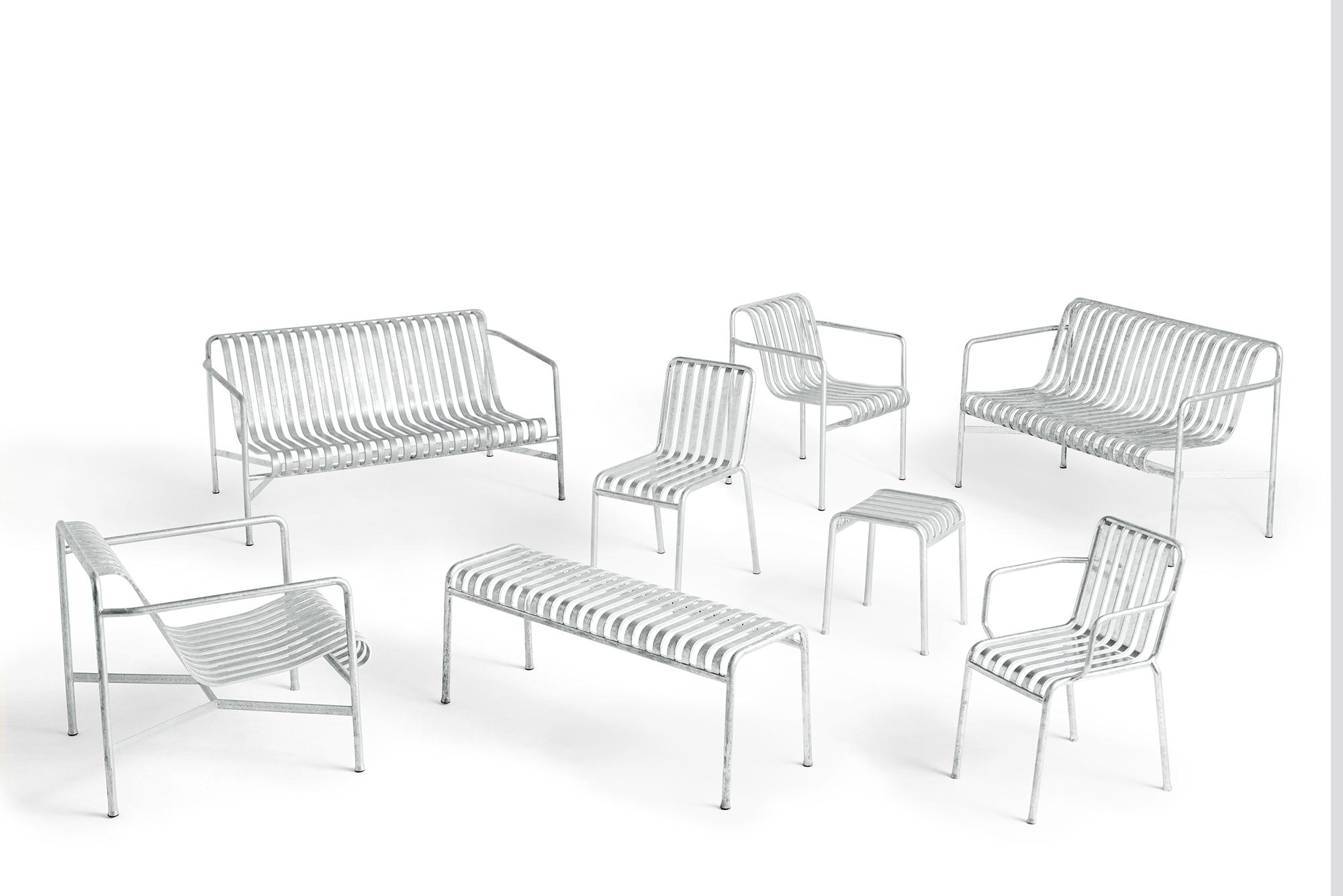 Palissade Lounge Sofa verzinkt Outdoor Hay