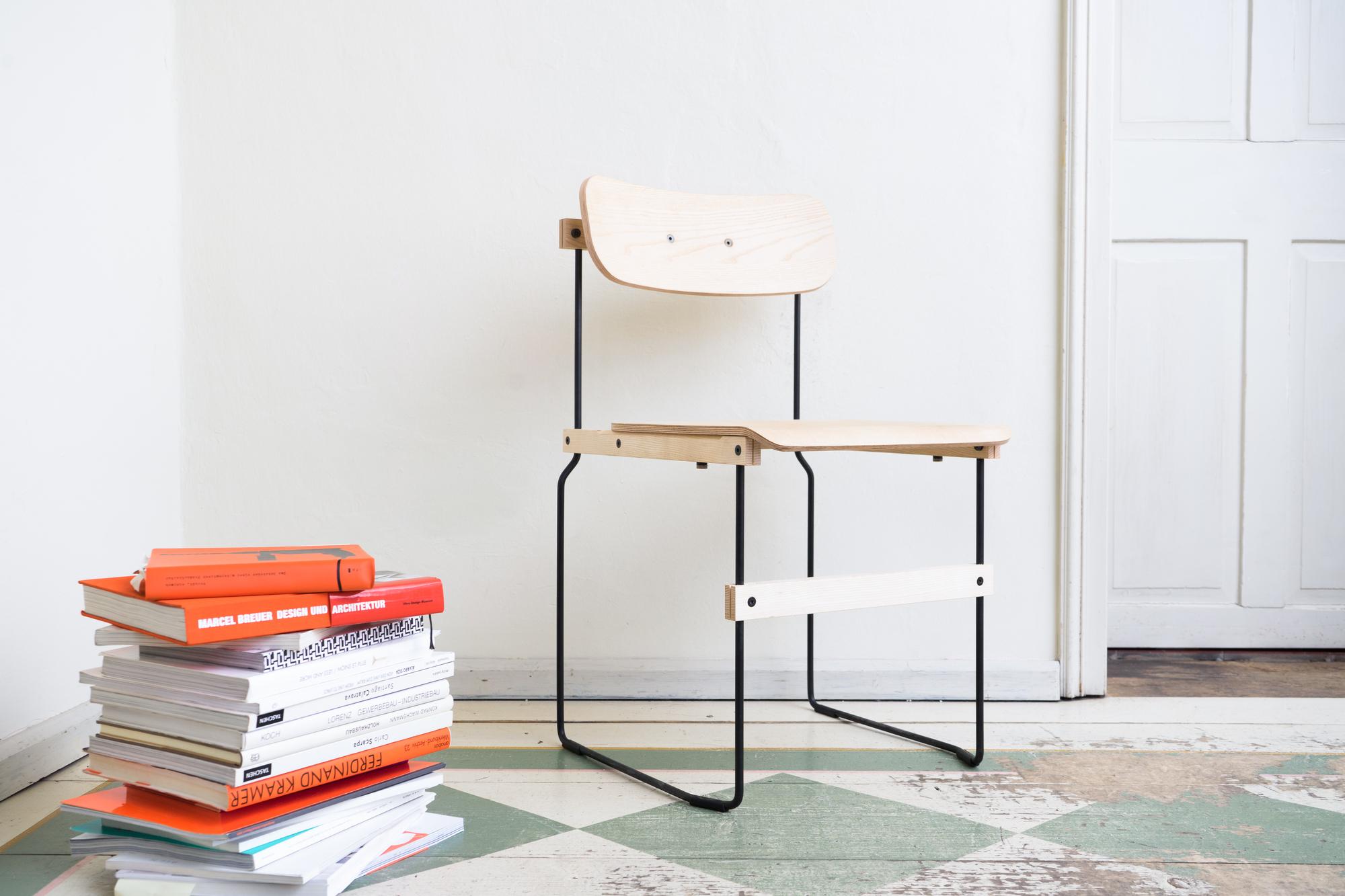 Bruto Stuhl ohne Armlehne Nils Holger Moormann