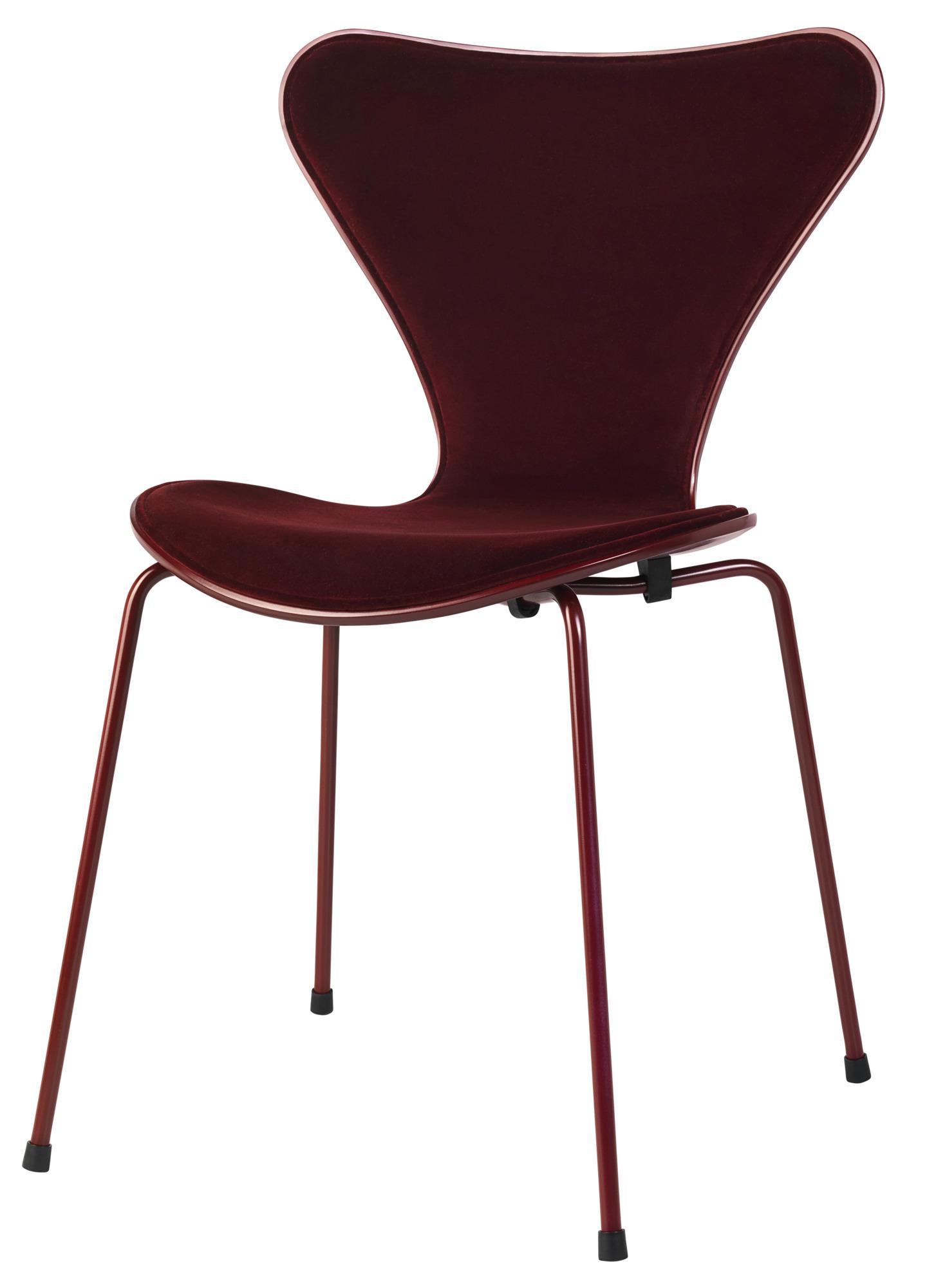 Serie 7 Stuhl Miniatur opium rot Fritz Hansen