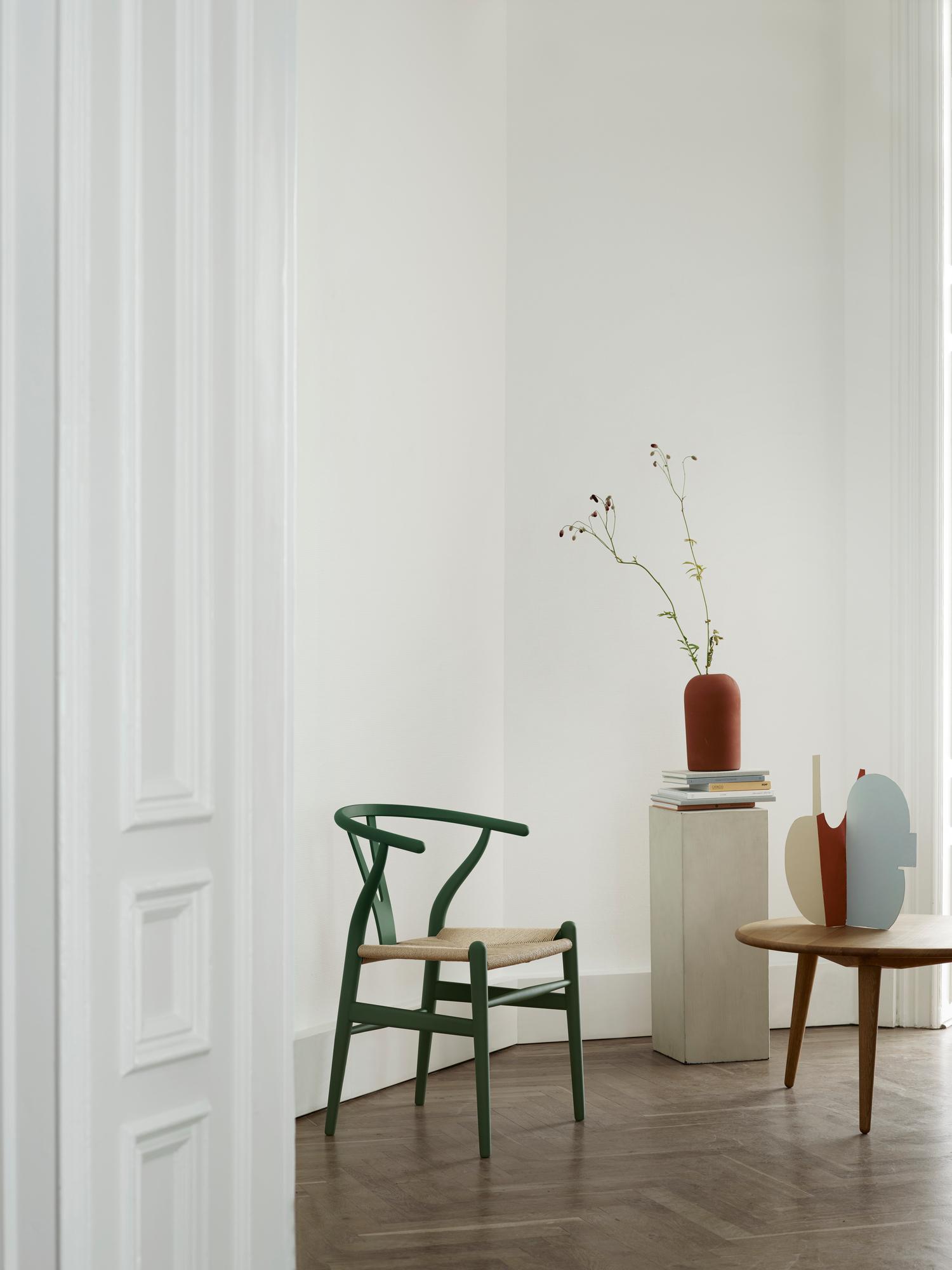 CH24 SOFT Wishbone Chair / Y-Chair Stuhl Carl Hansen & Søn rot
