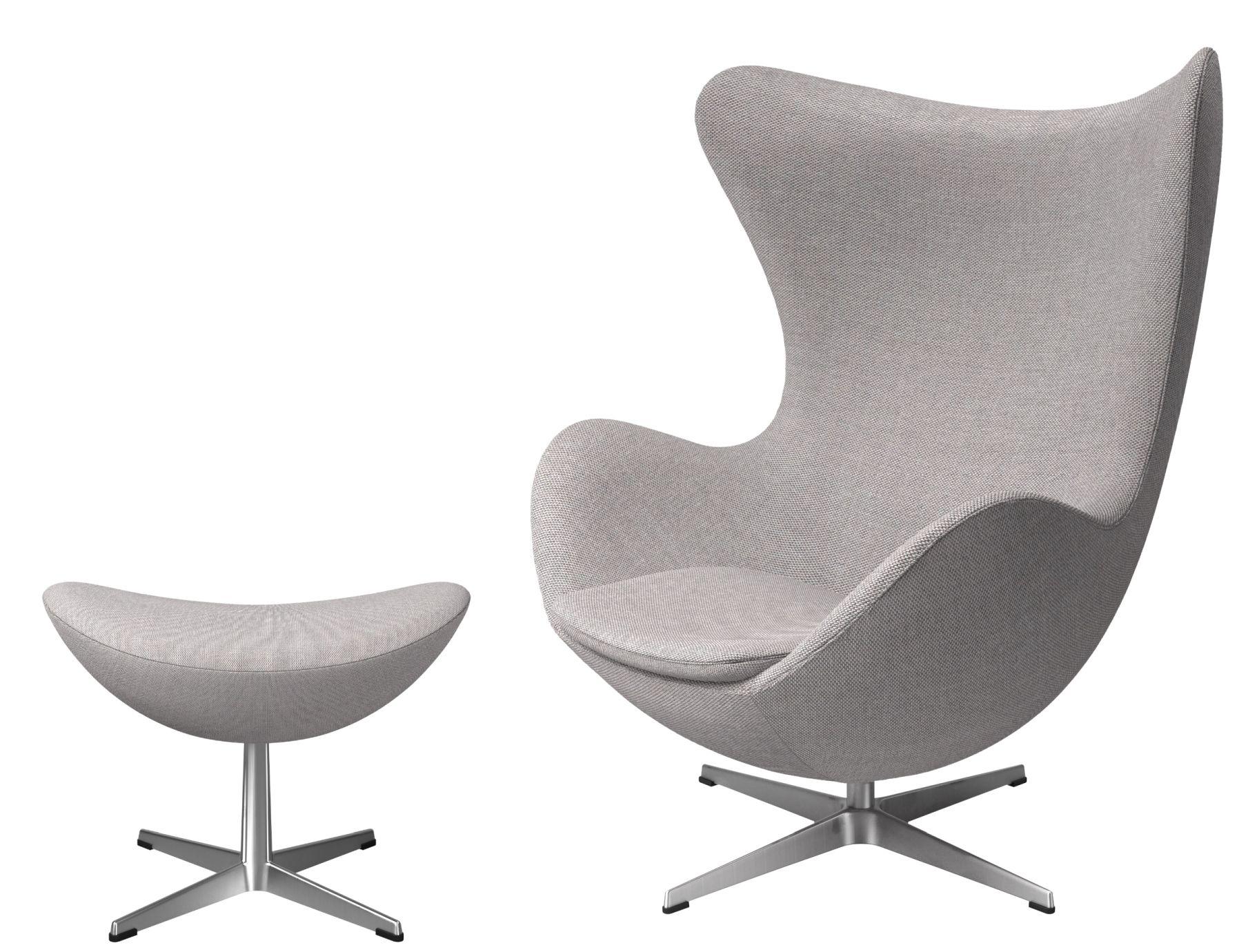 Egg Chair mit Hocker Aktionsmodell Re-wool Textile Stoff Fritz Hansen