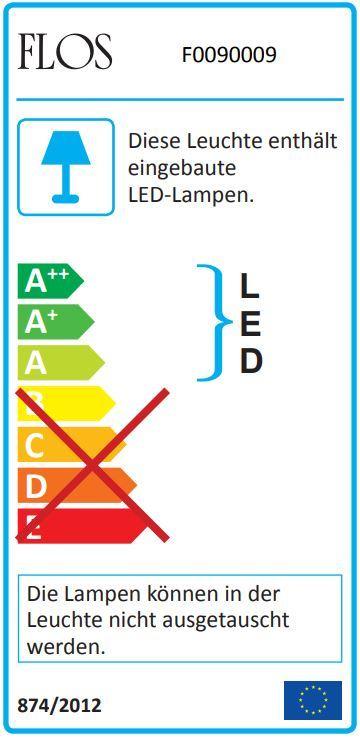 Aim LED Pendelleuchte groß Flos Schwarz mit Dimmer