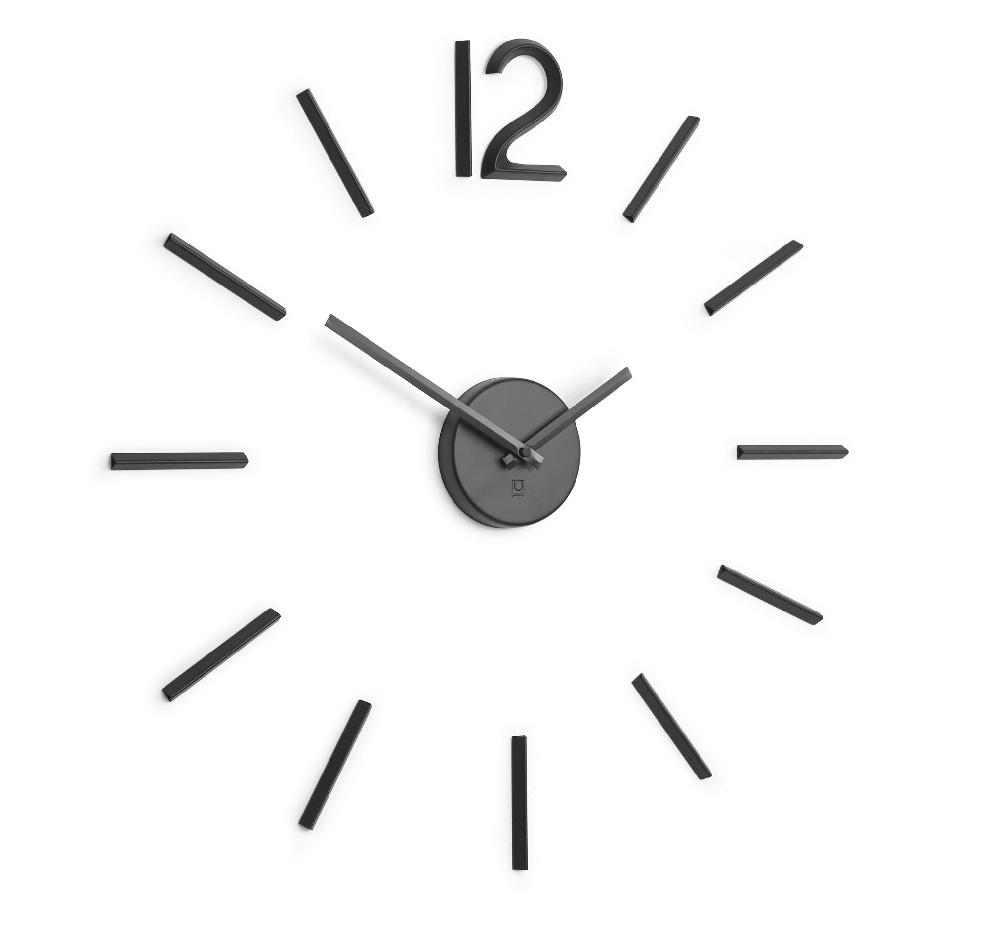 Blink Clock schwarz Wanduhr Umbra