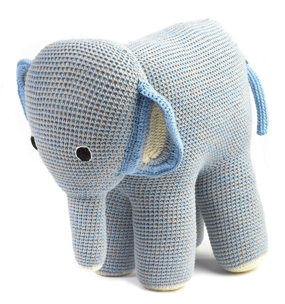 Mama Elephant 29 x 35 cm Plüschtier gehäkelt Anne-Claire Petit - EINZELSTÜCKE