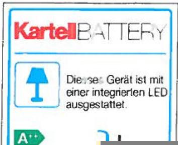 Battery B4 Tischleuchte Kartell