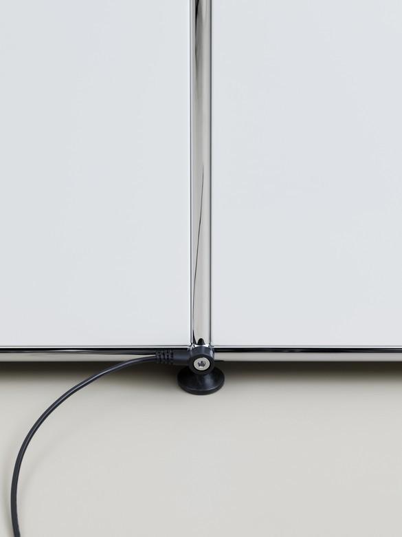 E Sideboard beleuchtet mit 6 Klapptüren beige USM Haller