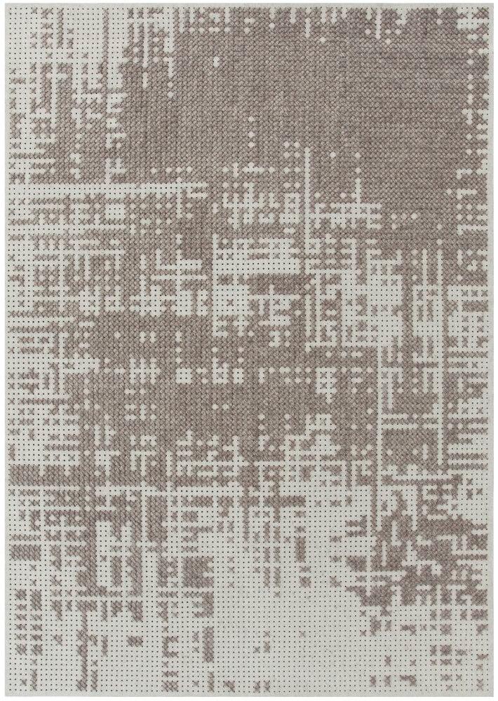 Canevas Teppich GAN-silberfarben