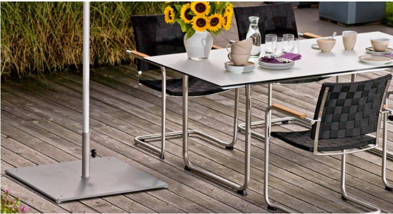 Bodenplatte Stahl für Sonnenschirm Weishäupl