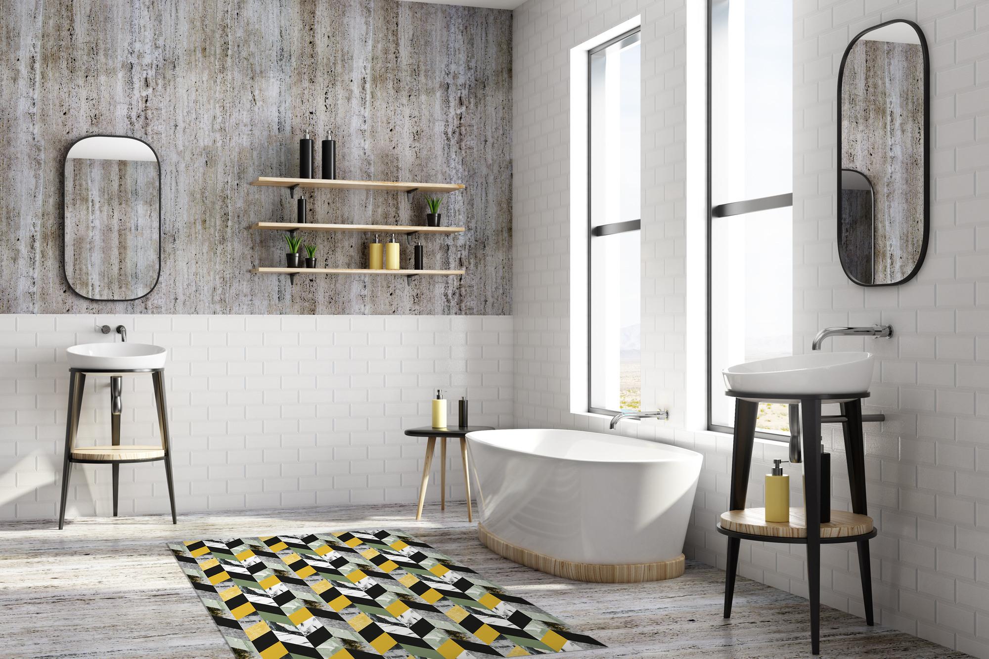 Matteo Vinyl Teppich Tiles Marrocan beige Contento 60x90