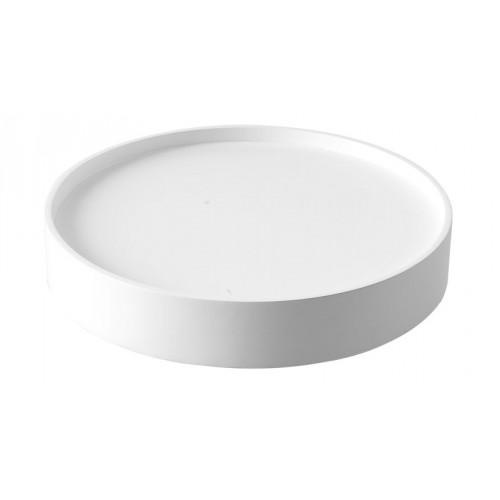 mit Tablett weiß