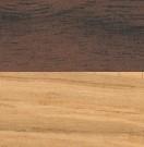 L 248 cm / Gestell: Eiche geölt; Tischplatte: Walnuss geölt