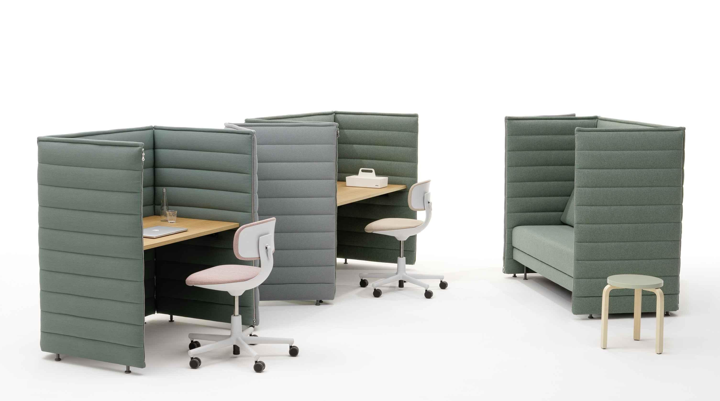 Alcove Plus Desk Medium Schreibtisch Vitra