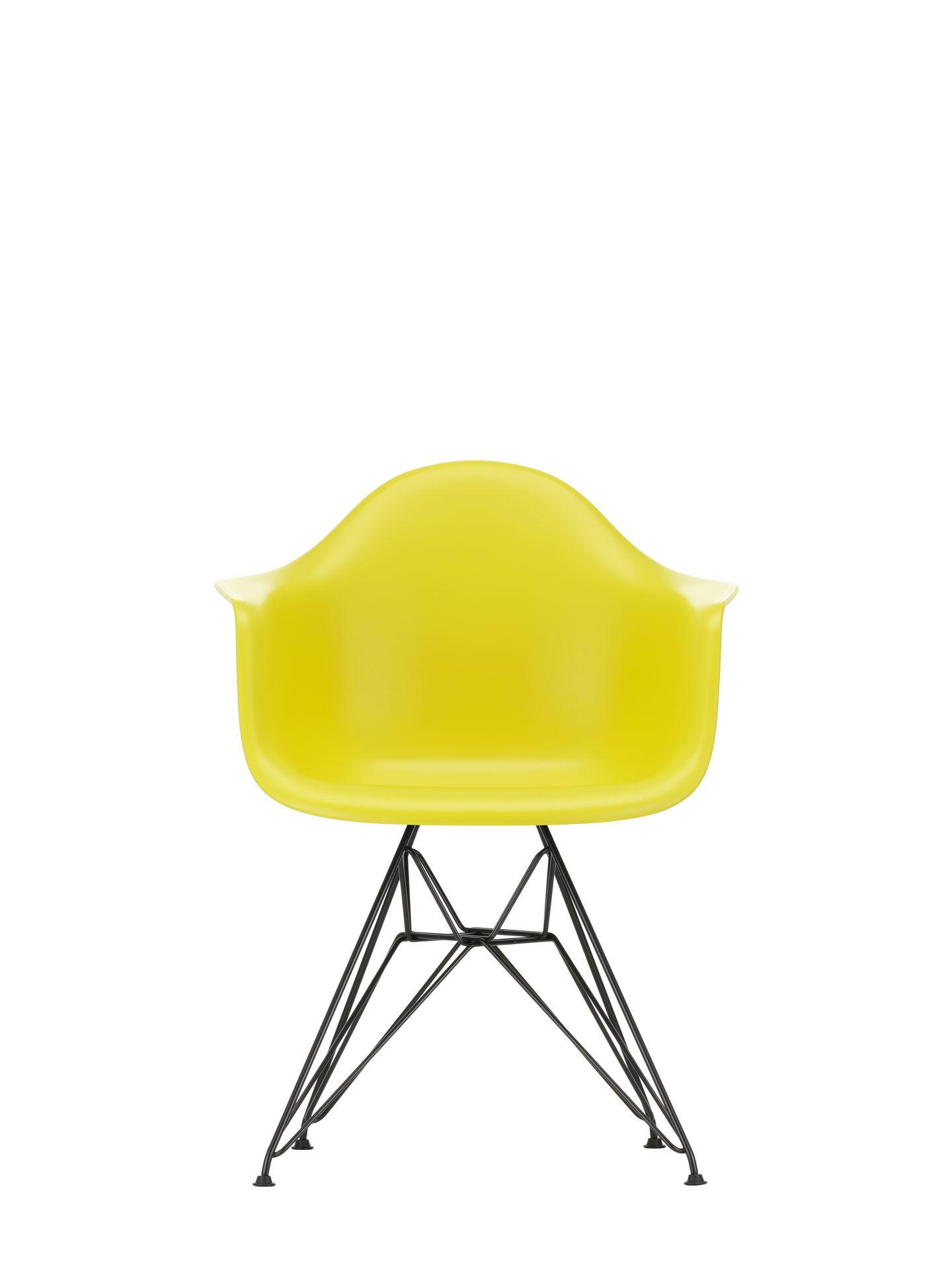 Eames Plastic Arm Chair DAR Stuhl Vitra Verchromt - Poppy red
