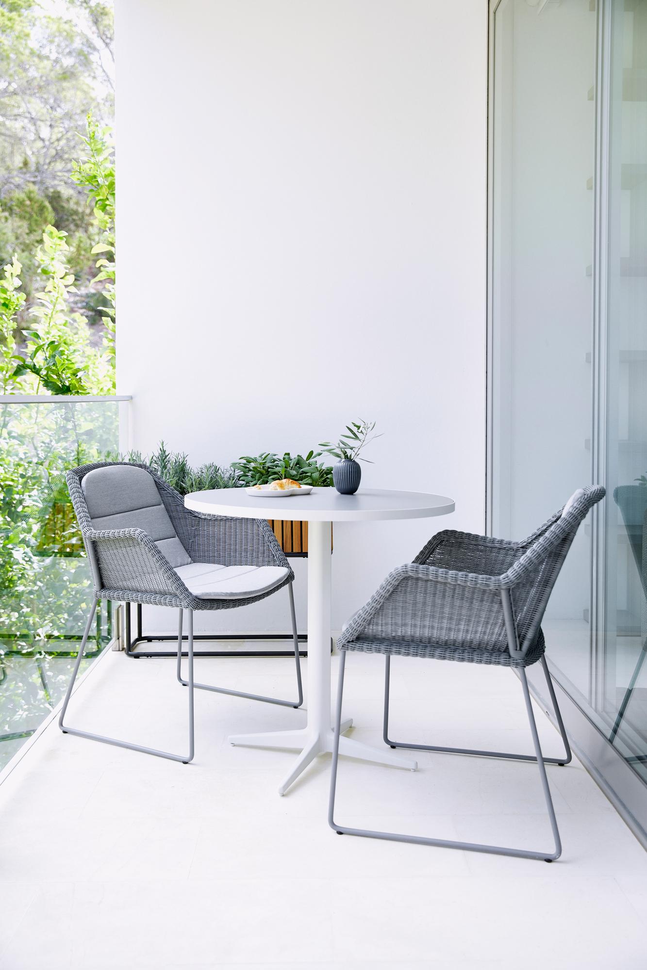 Breeze Sitz- Rückenkissen für Outdoor Stuhl Kufengestell Cane-Line grau