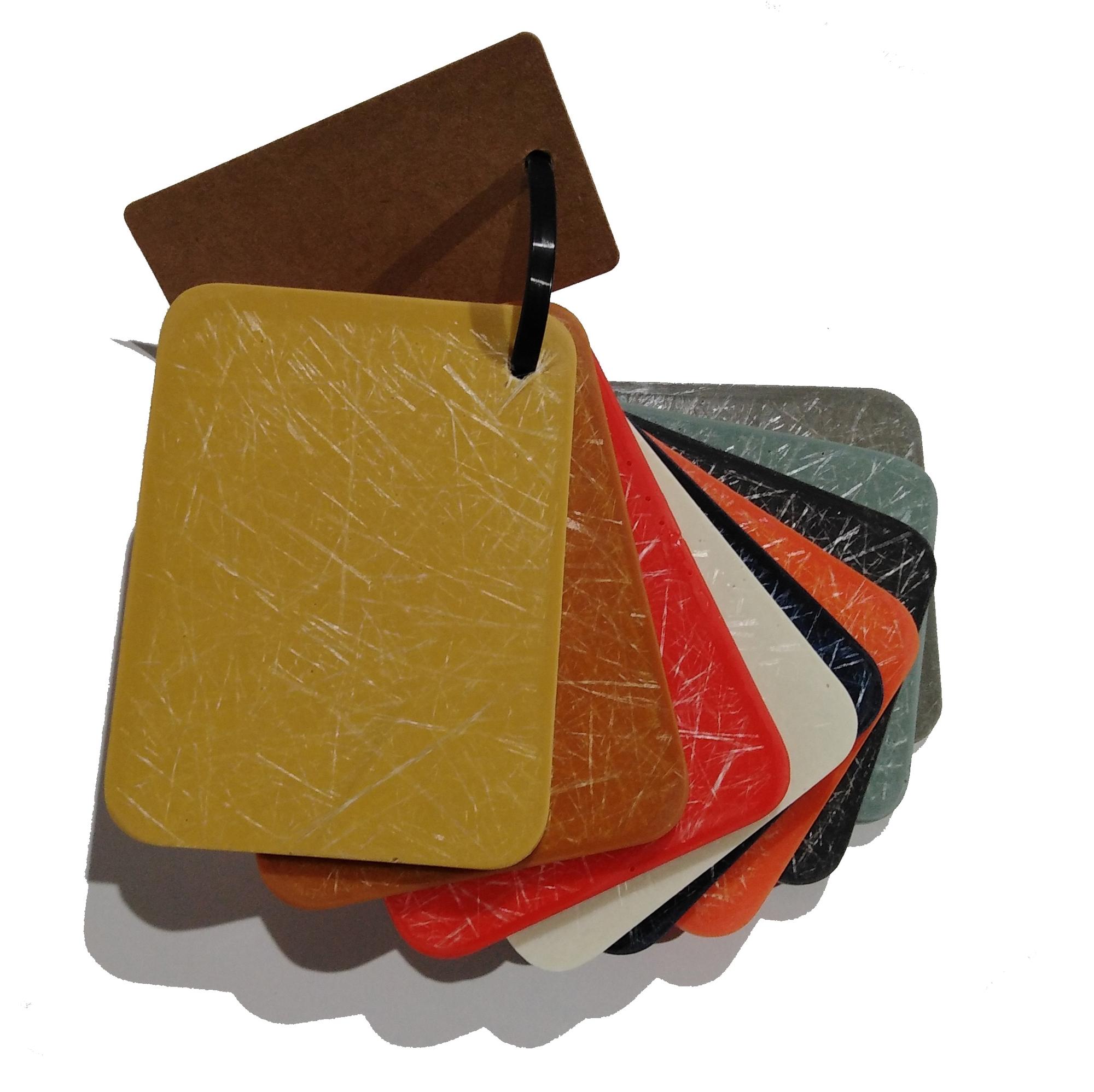 Kunststoffmuster für Eames Fiberglas Chairs Vitra