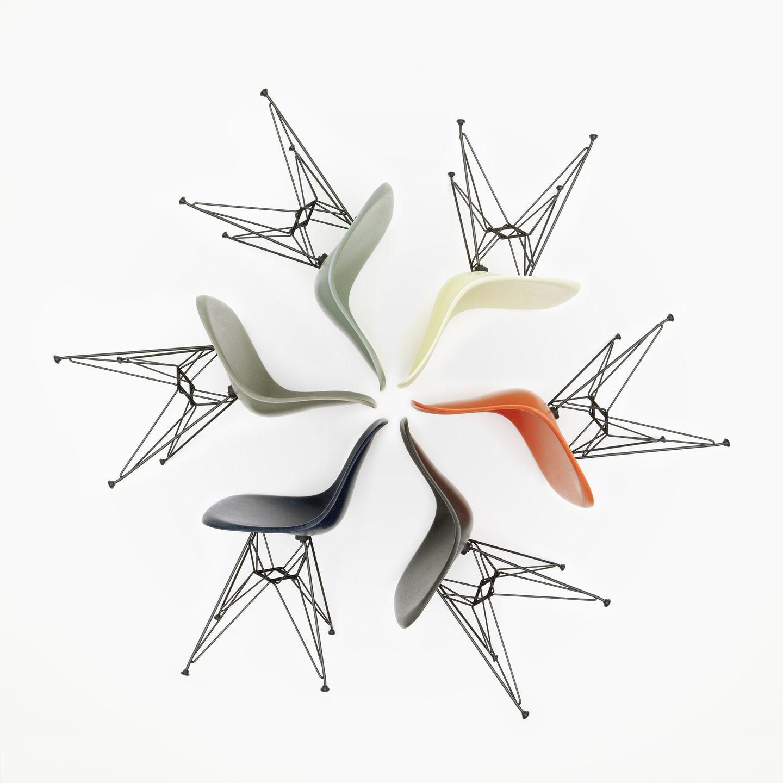 Eames Fiberglass Chair DSR Vitra Chrom-Parchment