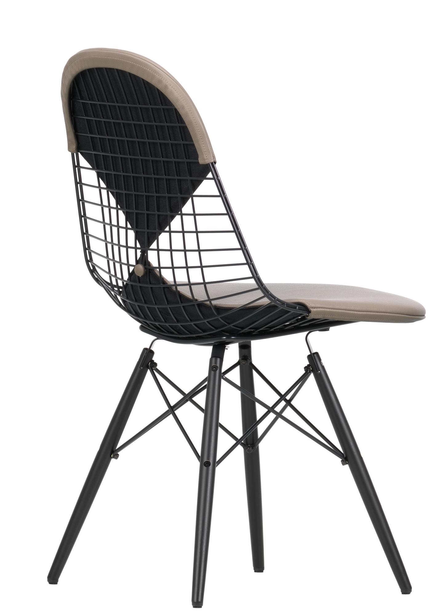 DKW-2 Wire Chair Stuhl mit Sitz und Rückenpolster Vitra