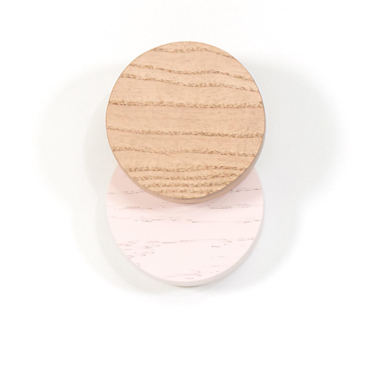 Lou Garderobenhaken Hartô -Eiche natur / Pastellrosa