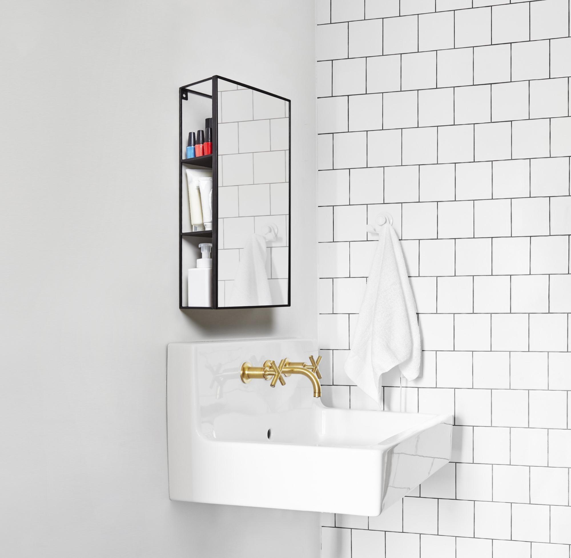 Cubiko Mirror Spiegel schwarz Umbra