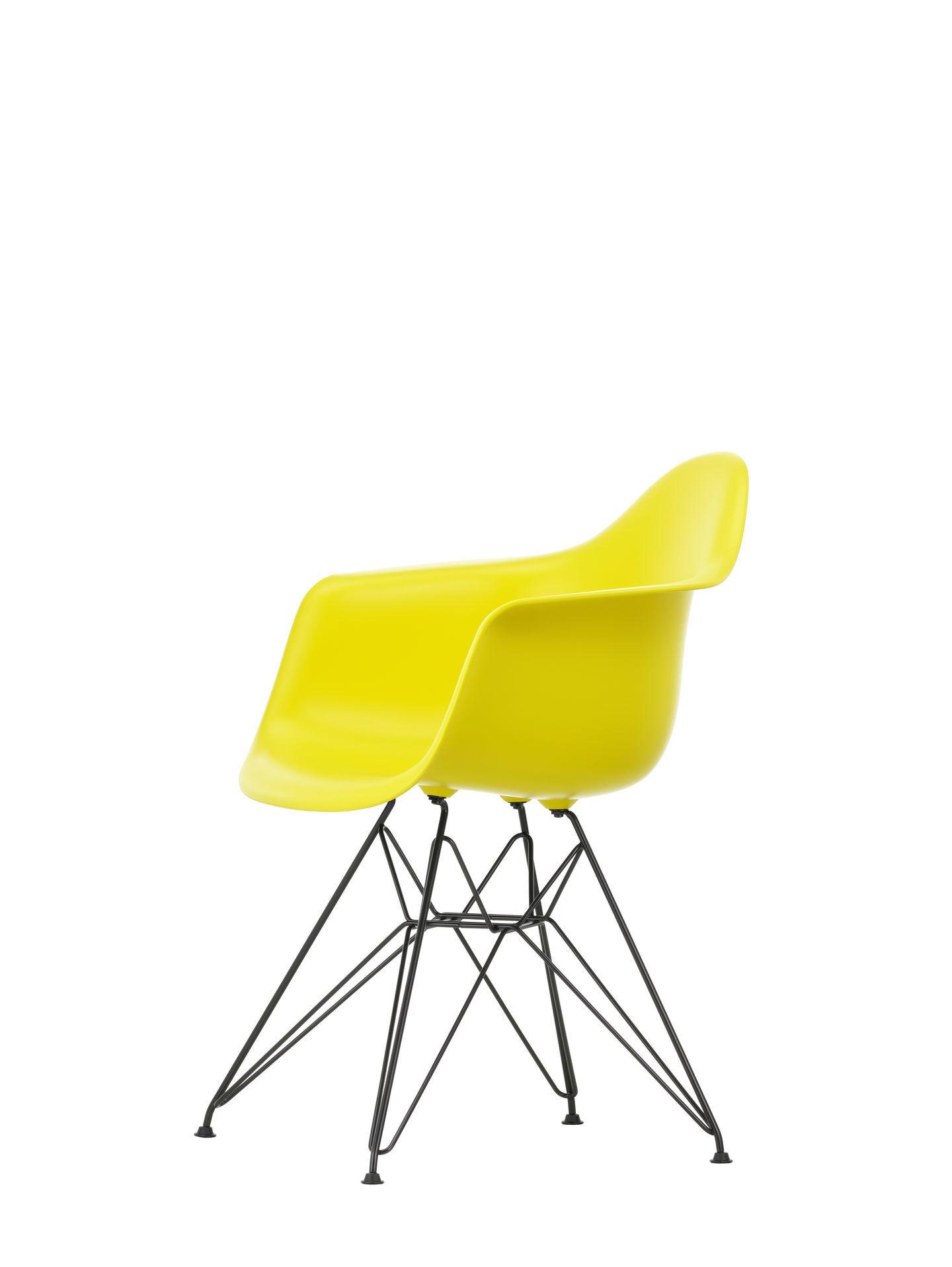 Eames Plastic Arm Chair DAR Stuhl Vitra Schwarz - Zartrosa