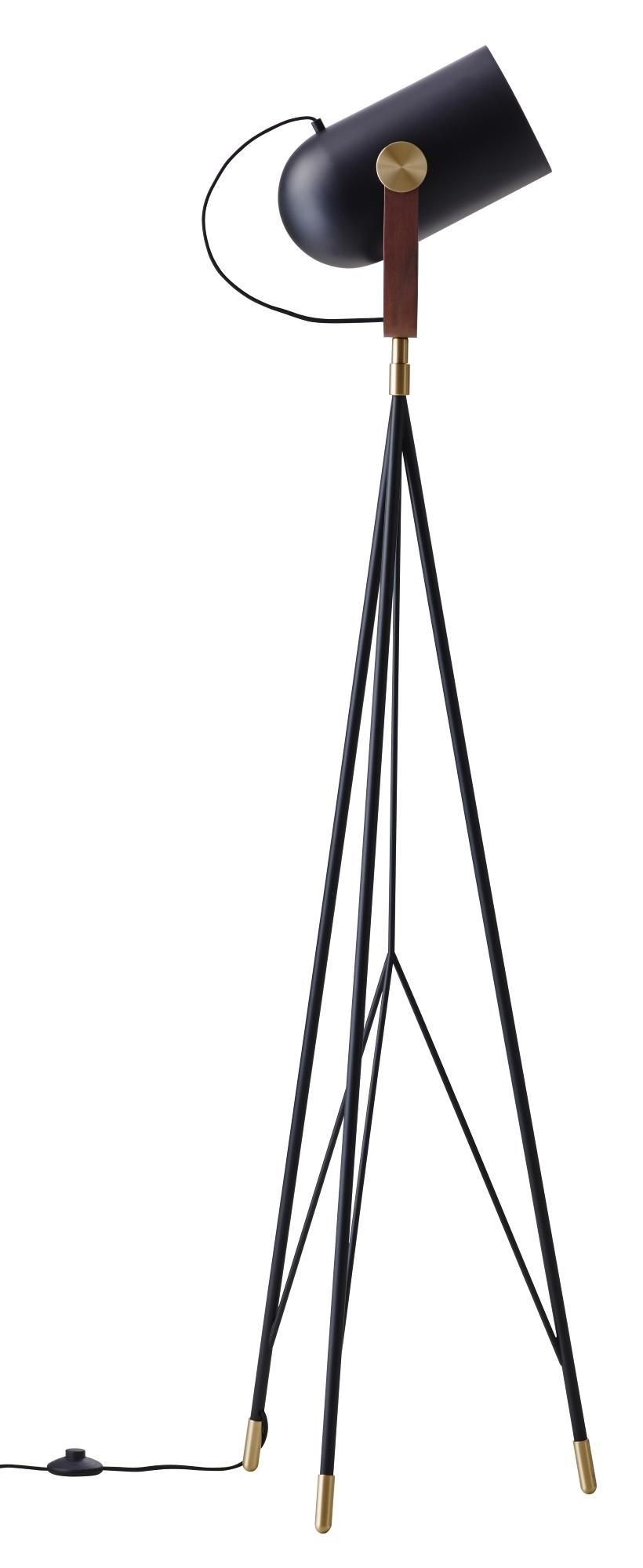 Carronade Stehleuchte High Le Klint-Amerikanische Nussbaum / schwarz