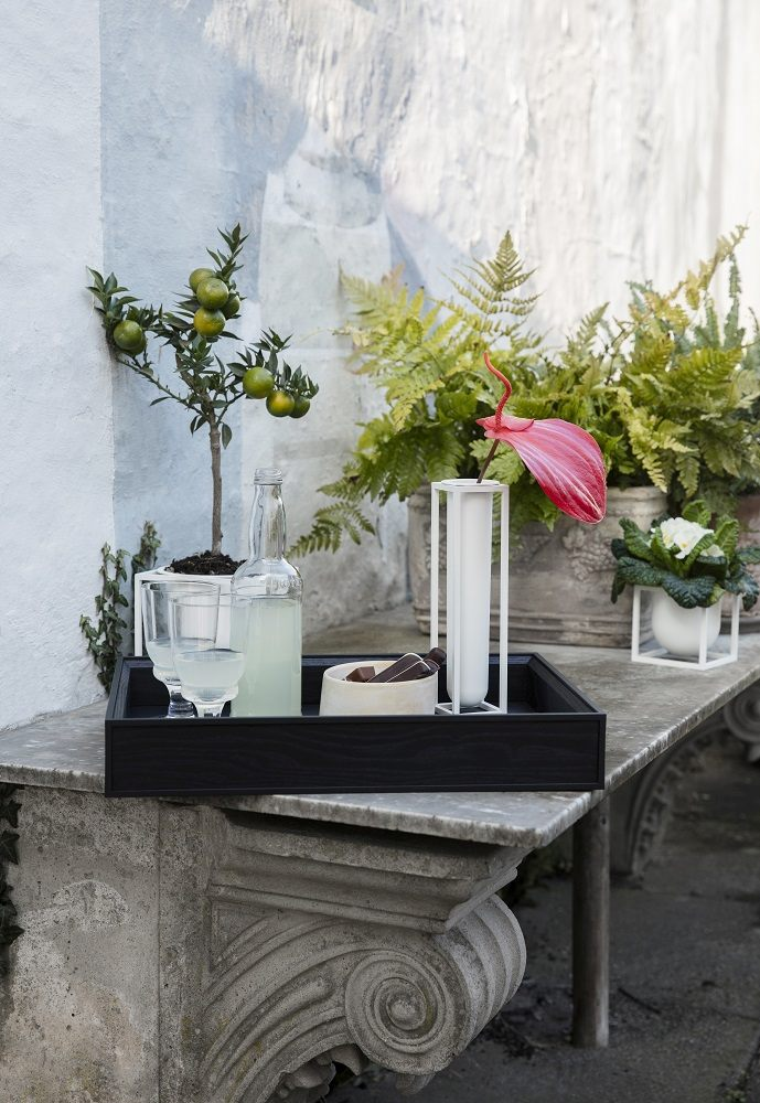 Kubus Vase Flora by Lassen