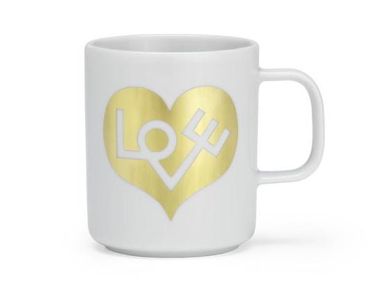 Coffee Mugs NEW Love Heart gold Tasse Vitra