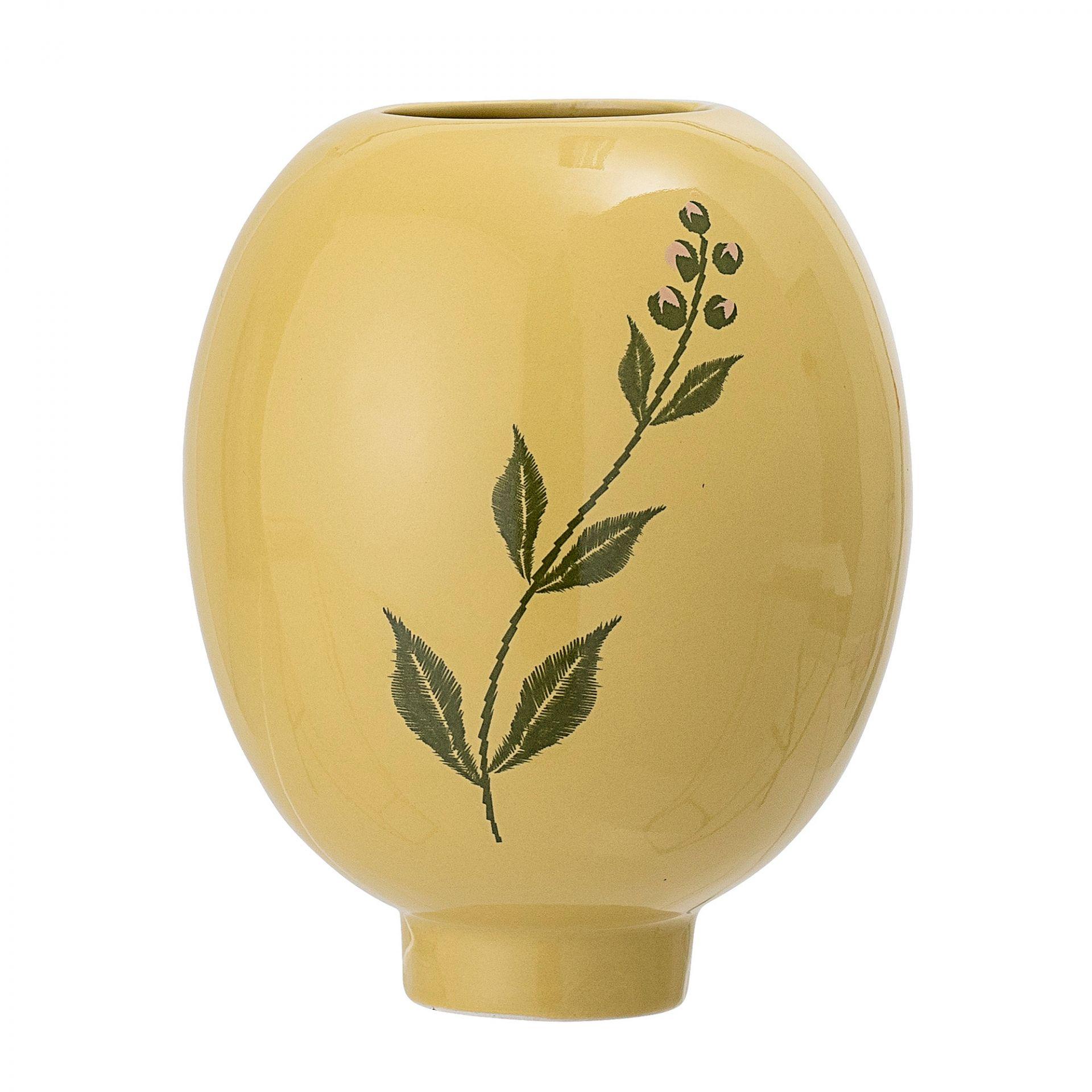 Vase Gelb Stoneware Steingut Bloomingville   AUSLAUFARTIKEL