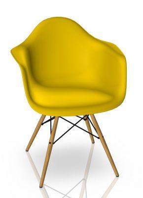 Eames Plastic Arm Chair DAW Stuhl Vitra Ahorn gelblich - Sunlight