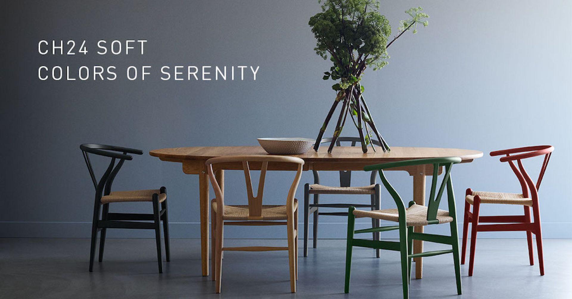 CH24 SOFT Wishbone Chair / Y-Chair Stuhl Carl Hansen & Søn Soft blau