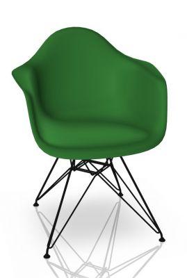 Eames Plastic Arm Chair DAR Stuhl Vitra Schwarz - Grün