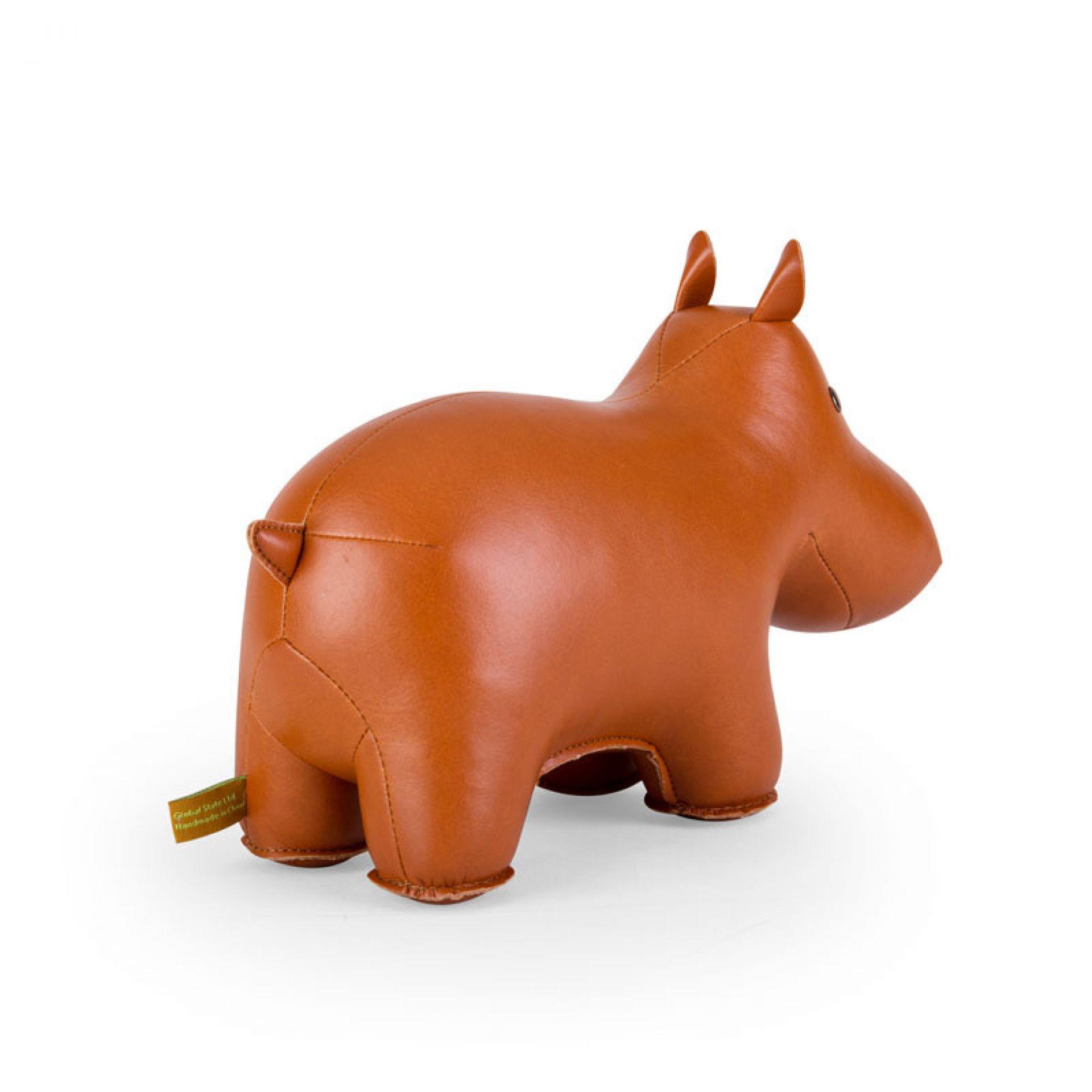 Buchstütze Classic Hippo Tan/White Züny