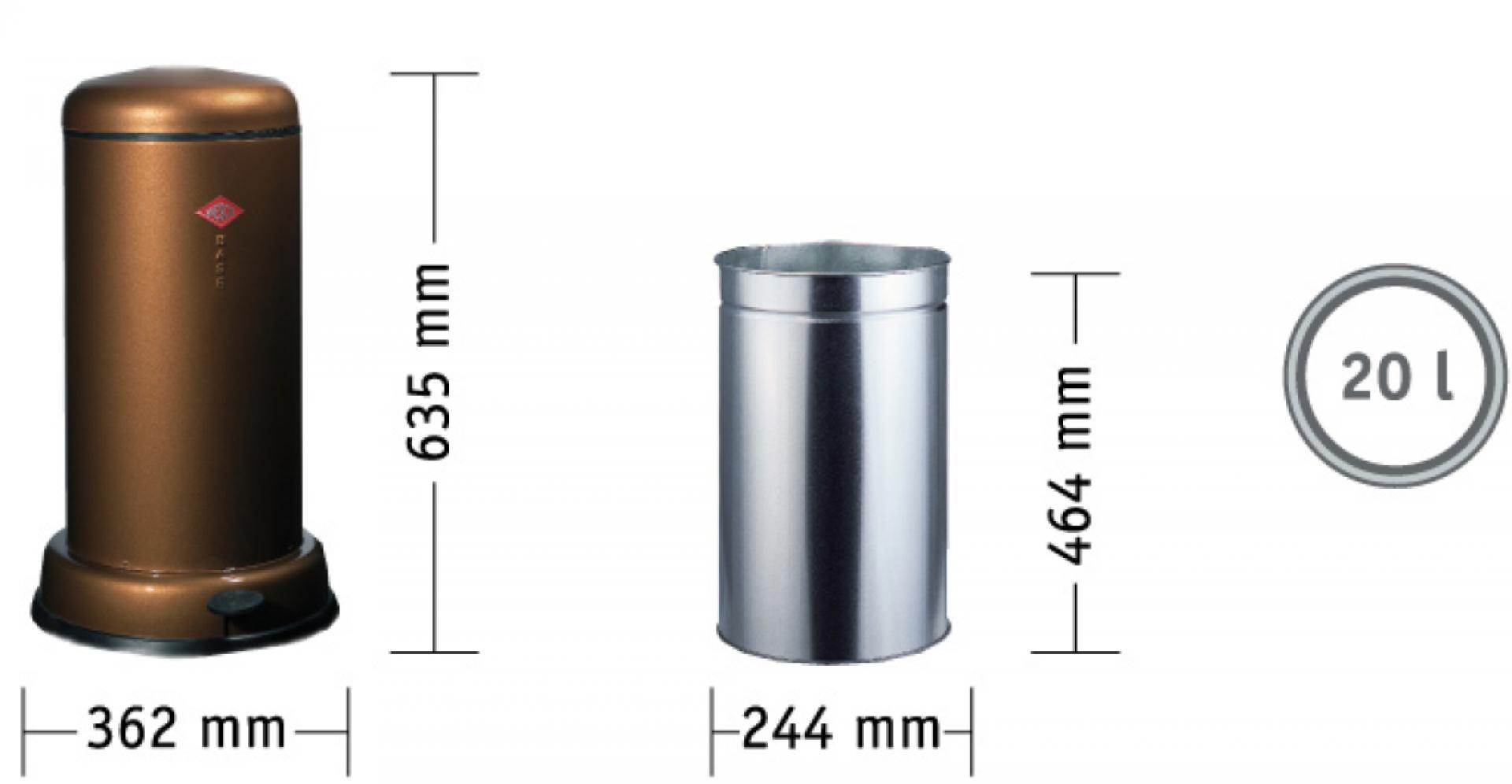 Baseboy 20 Liter Abfallsammler Wesco