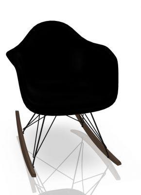 Vitra Eames Plastic Arm Rocking Chair RAR Schaukelstuhl Ahorn dunkel-Schwarz-Tiefschwarz