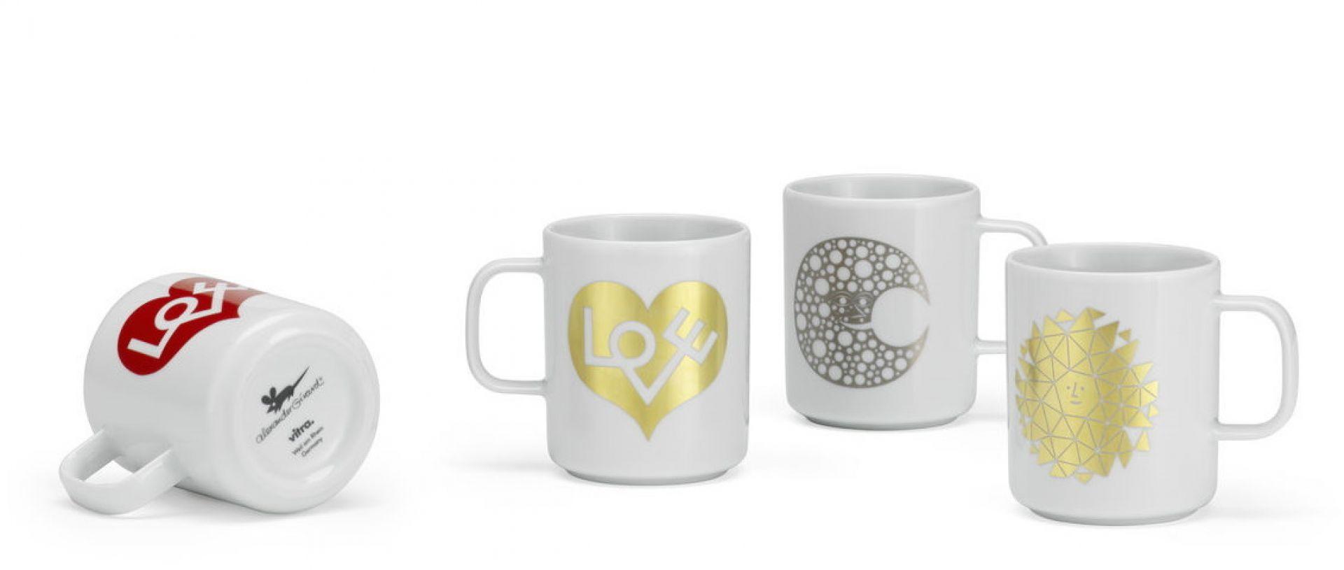 Coffee Mugs NEW Love Heart rot Tasse Vitra