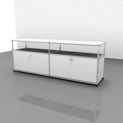 USM Haller Sideboard TV Hi-Fi-Möbel – QUICK SHIP-reinweiß