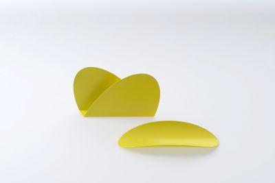 Ellipse Schreibtischset bunt Alessi-gelb