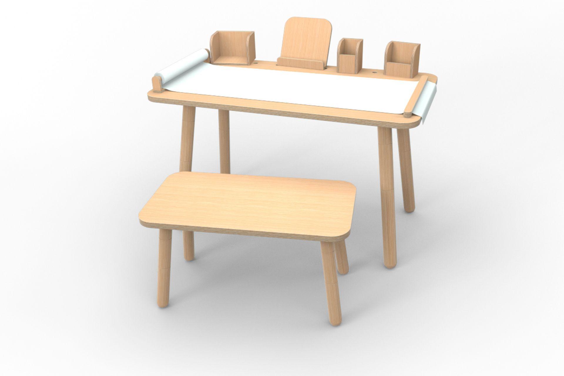 Growing Table 9-teiliges Set Buche Pure Position