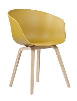 About A Chair AAC22 / AAC 22 Stuhl SENF / EICHE GESEIFT inkl. Filzgleiter Hay EINZELSTÜCK
