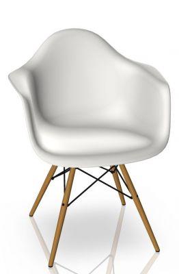 Eames Plastic Arm Chair DAW Stuhl Vitra Esche - Weiss
