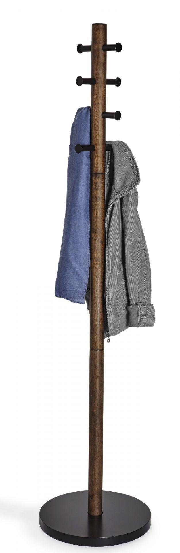 Pillar Coat Rack Garderobenständer Umbra-schwarz / nussbaum