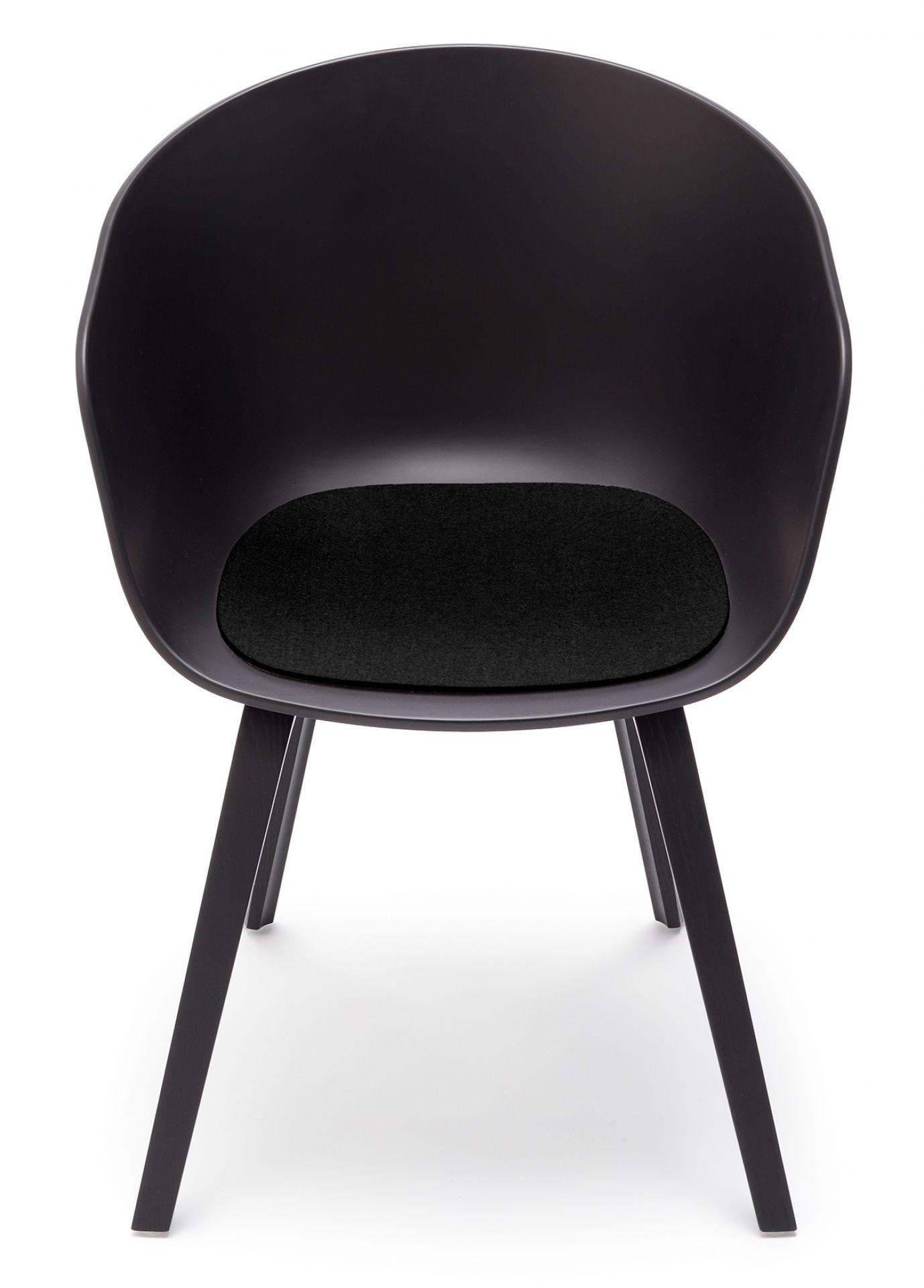 Sitzauflage - Filzauflage About A Chair AAC22 / AAC 22 Schwarz Hey Sign