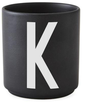 Buchstabenbecher Schwarz Design Letters-K