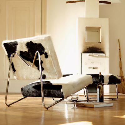 Lounge Chair Hirche Set Kuhfell Richard Lampert