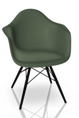 Eames Plastic Arm Chair DAW Stuhl Vitra Ahorn schwarz - Forest