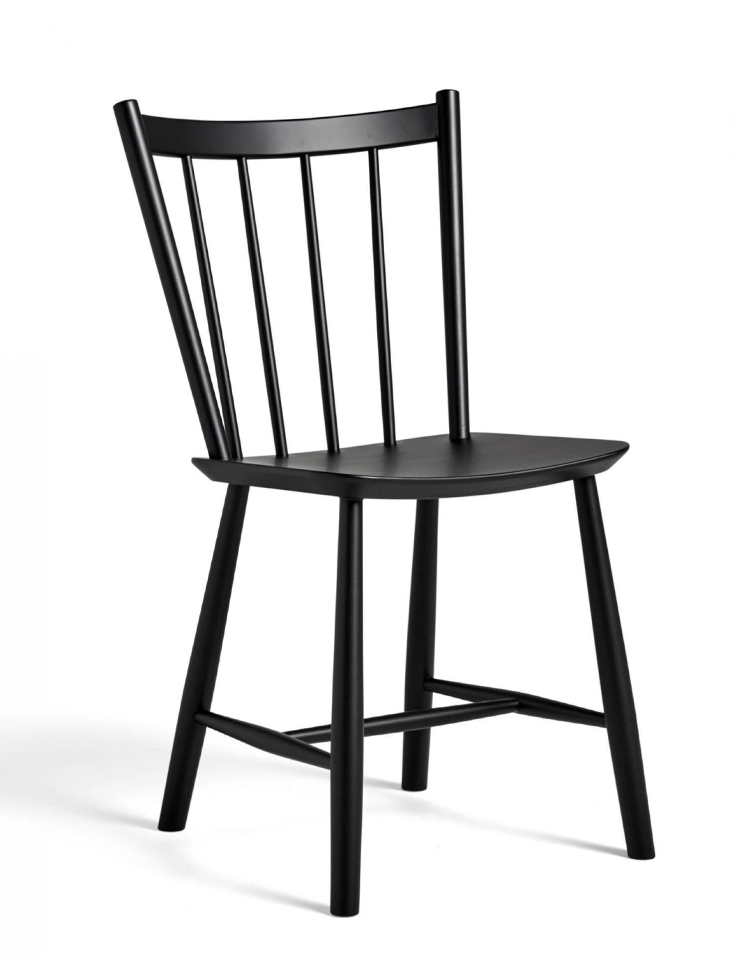 J41 / J 41 Stuhl Buche schwarz gebeizt Hay