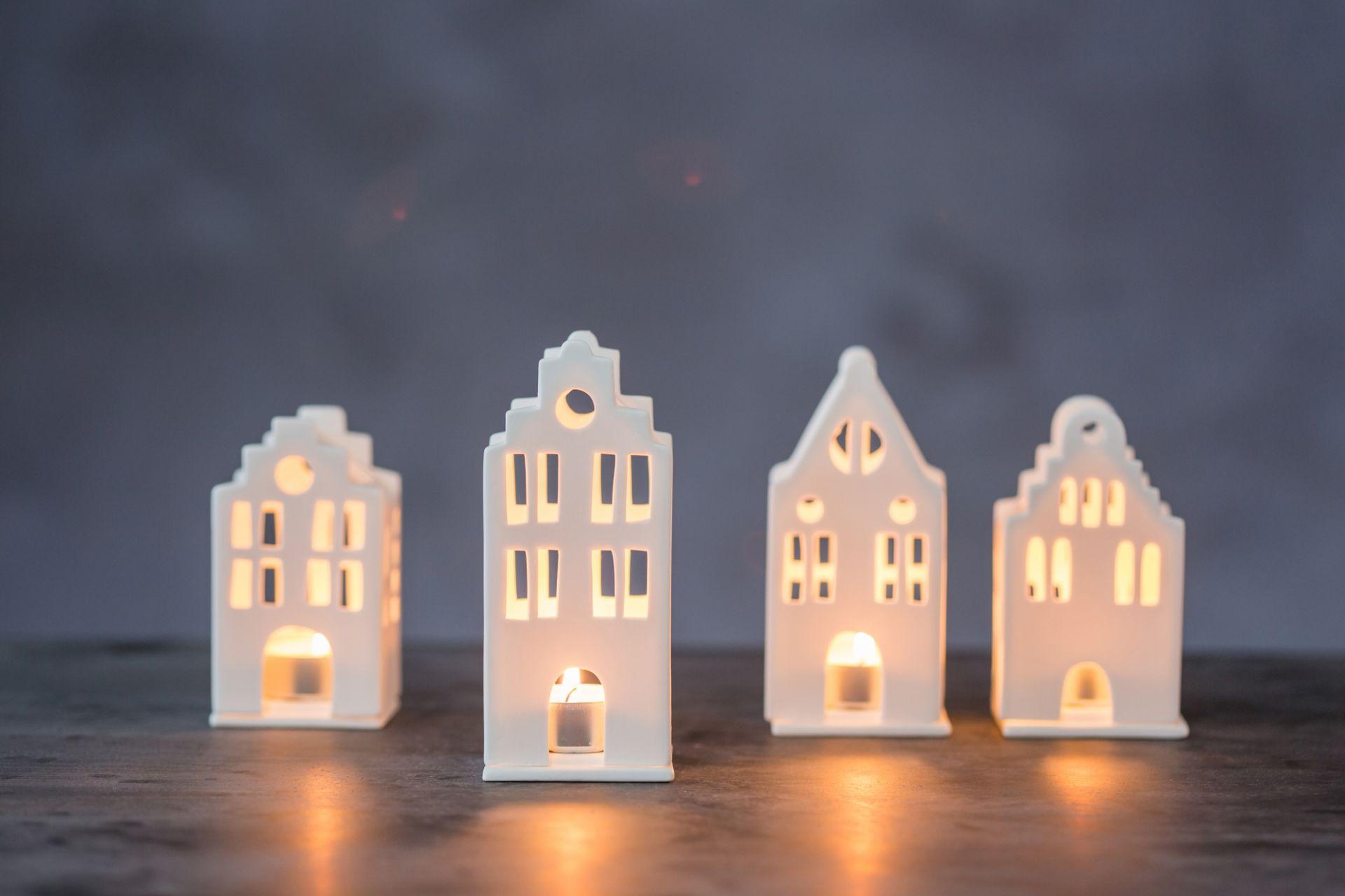 Zuhause Mini Lichthaus Stadthaus Räder