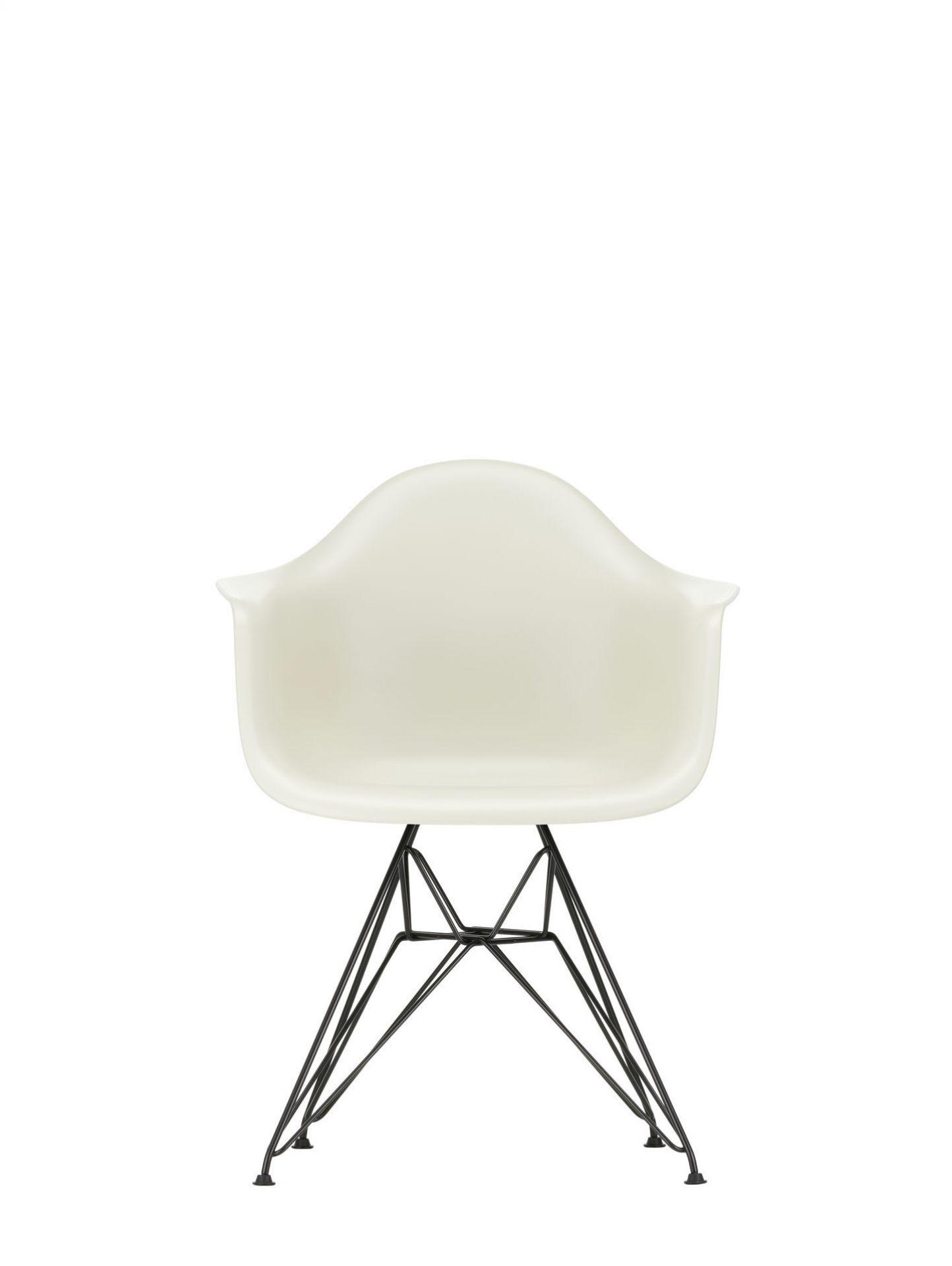 Eames Plastic Arm Chair DAR Stuhl Vitra Schwarz - Weiss