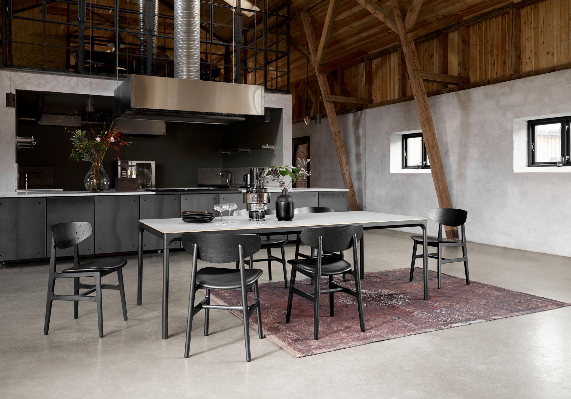 Four Dining Table Esstisch Houe B 160 X T 90 Cm Linoleum Aschgrau B 160 X T 90 X H 73 Cm Linoleum Aschgrau Houe 12406 63 6673